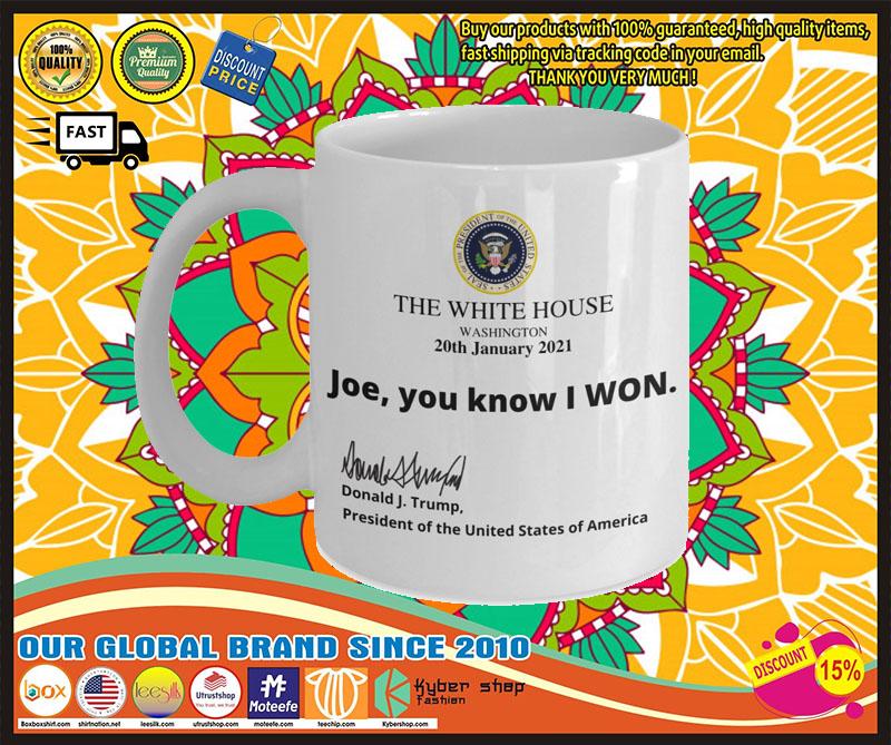 Trump the white house Joe I know you won mug