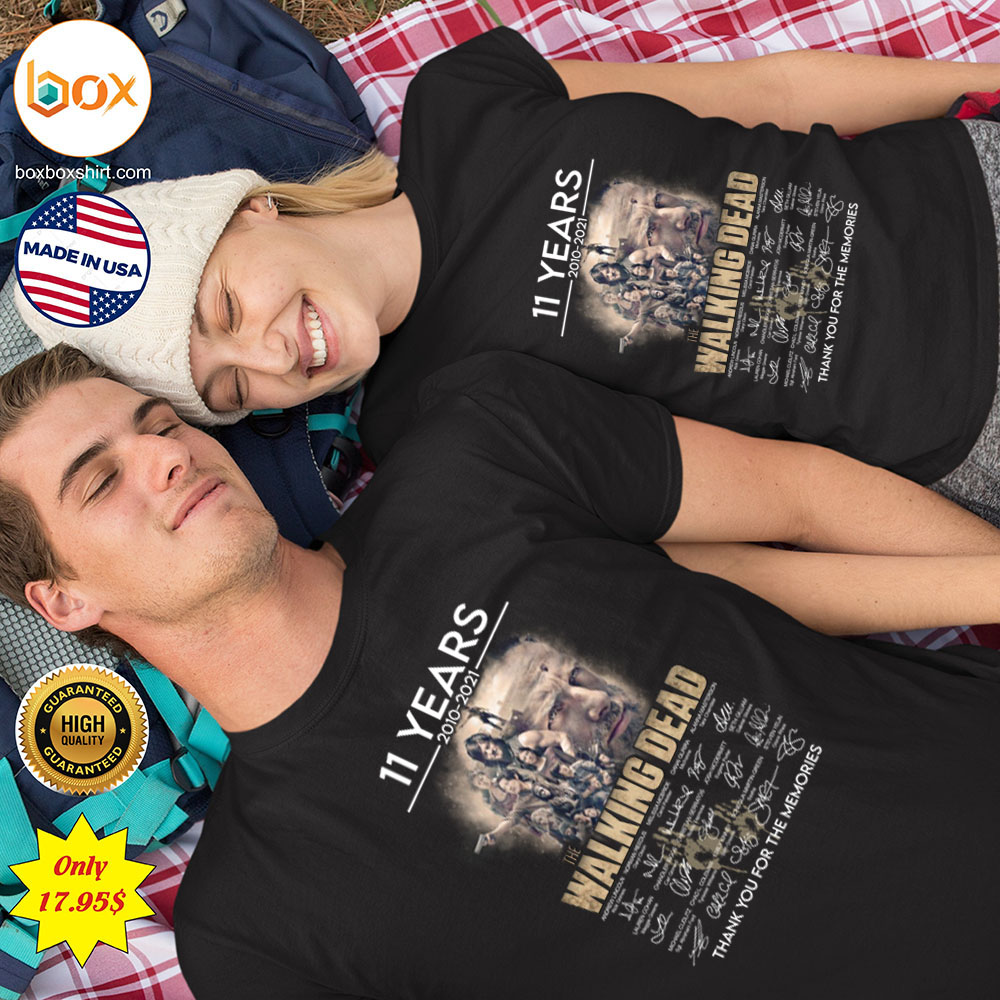 11 years 2010 2021 The walking dead thank you for the memories Shirt 1