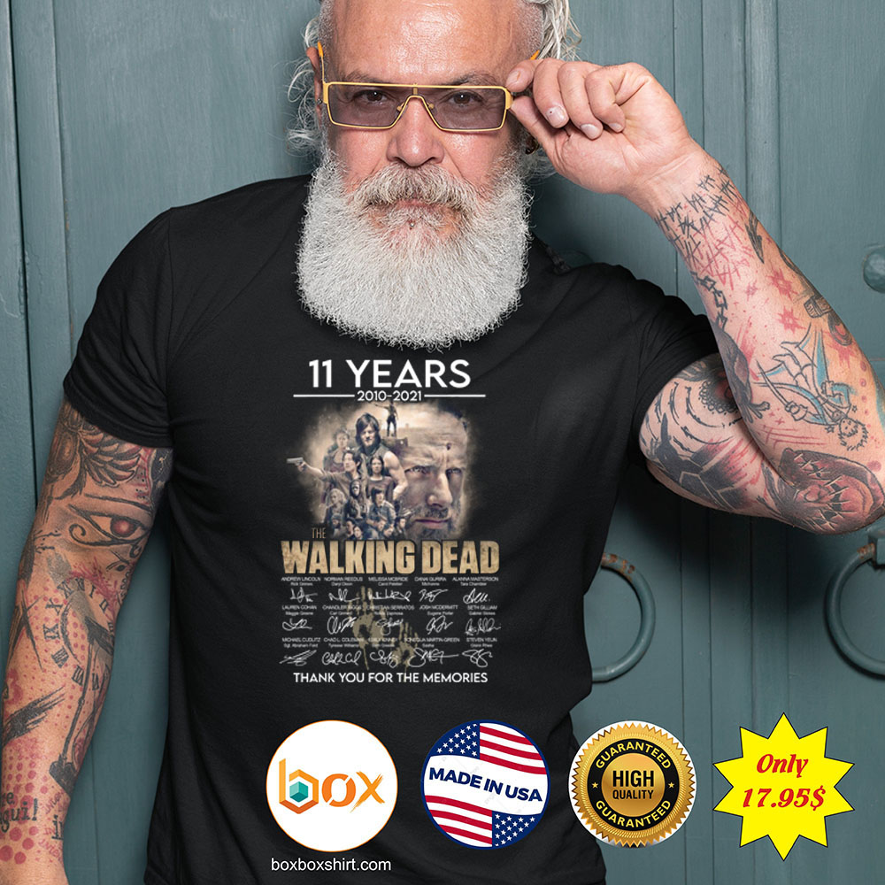 11 years 2010 2021 The walking dead thank you for the memories Shirt3 1