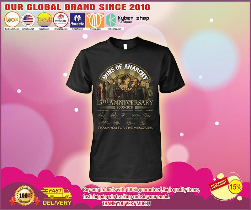 13th Anniversary 2008 2021 sons lovers anarchy fan tshirt 1