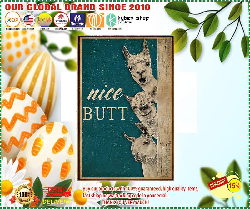 Alpaca nice butt poster 2
