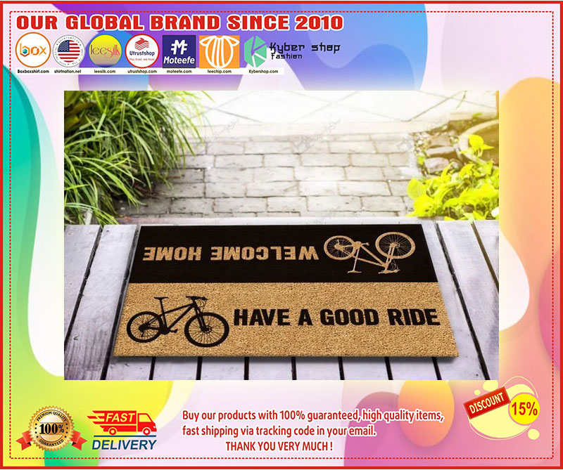 Bicycle welcome home have a good ride doormat 4