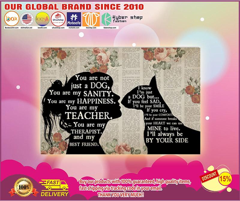 Bull Terrier girl therapist best friend poster 1