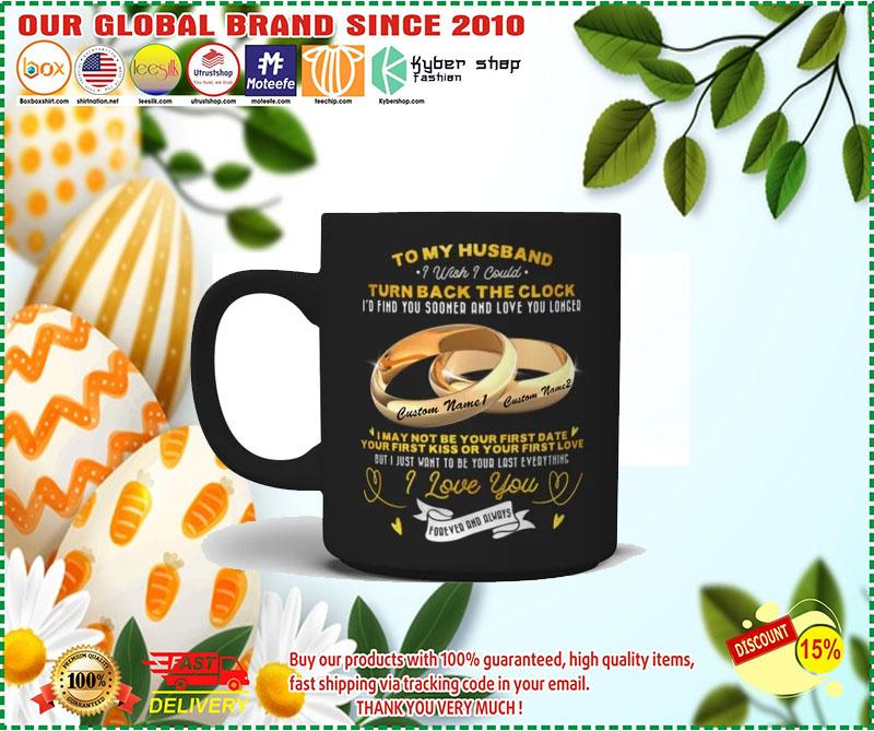 Couplerings To my husband turn back the clock I love you custom name mug 1 1