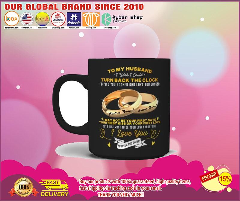 Couplerings To my husband turn back the clock I love you custom name mug 5