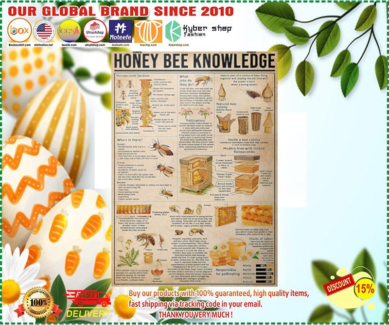 Honey bee knowledge poster 3