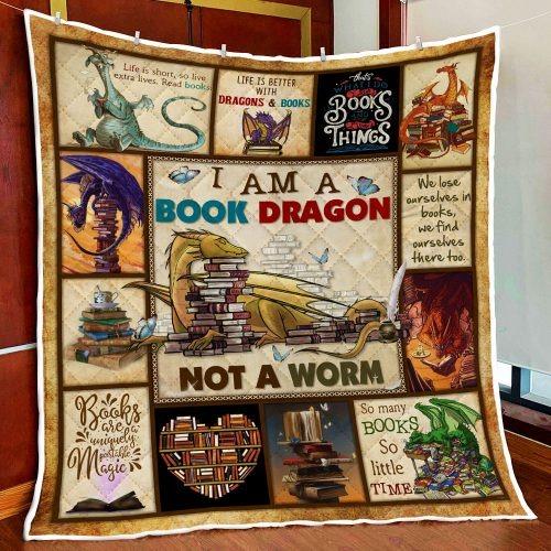 I am a book dragon not a warm quilt 1