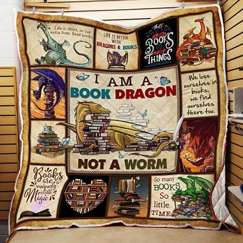 I am a book dragon not a warm quilt
