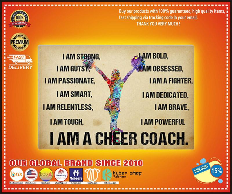 I am a cheer coach poster 2