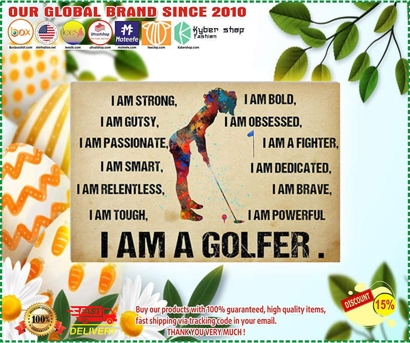 I am a golfer poster 1