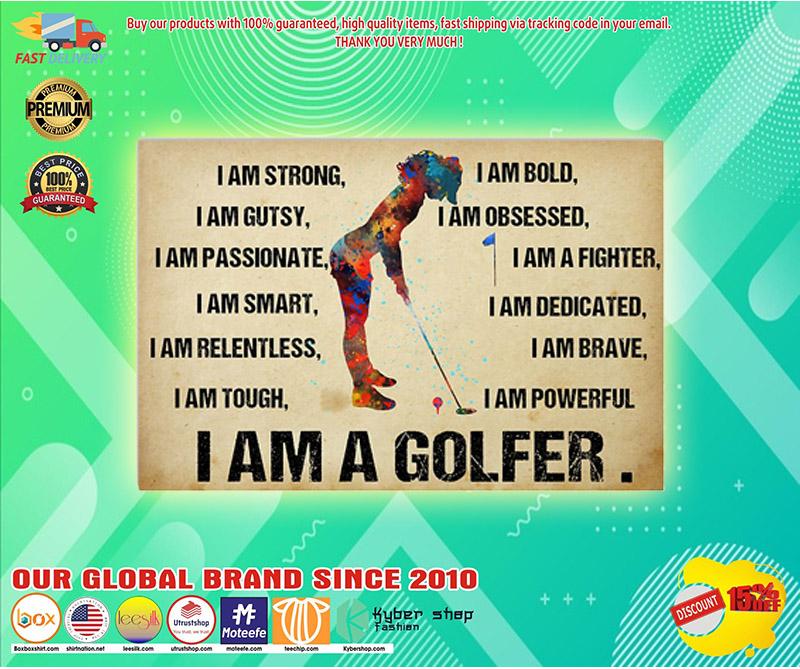 I am a golfer poster 3