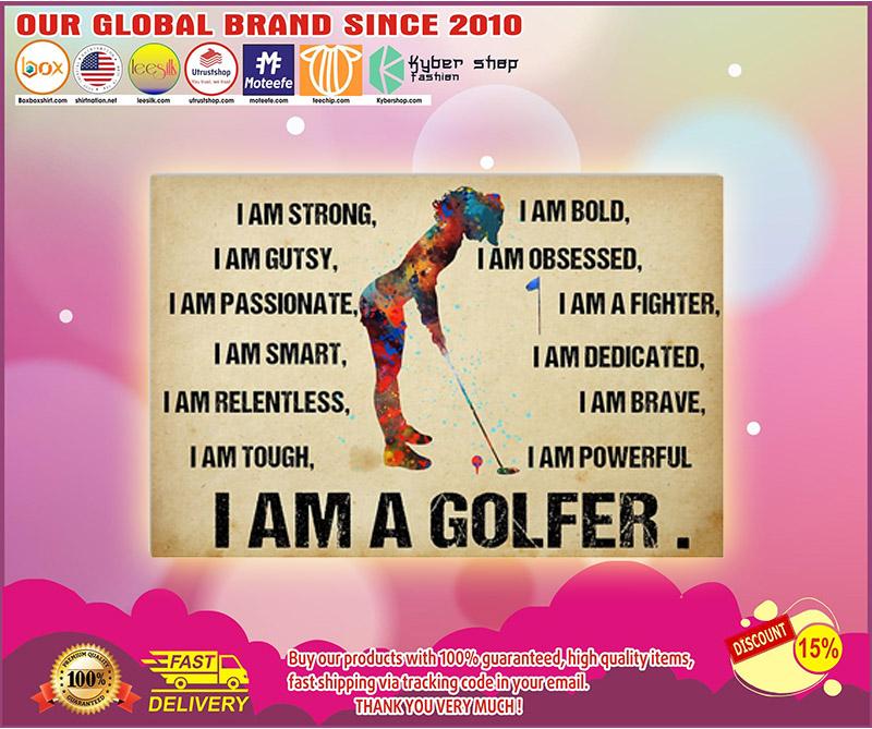 I am a golfer poster