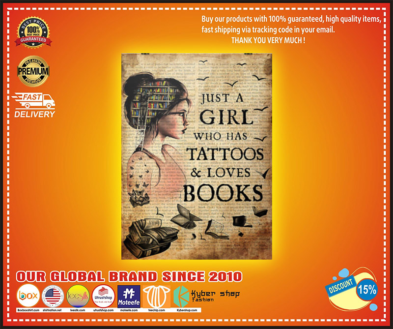 Just a girl who loves books poster 1