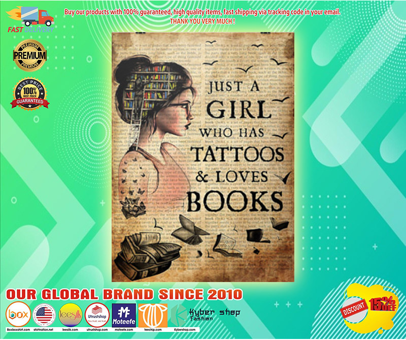 Just a girl who loves books poster 2