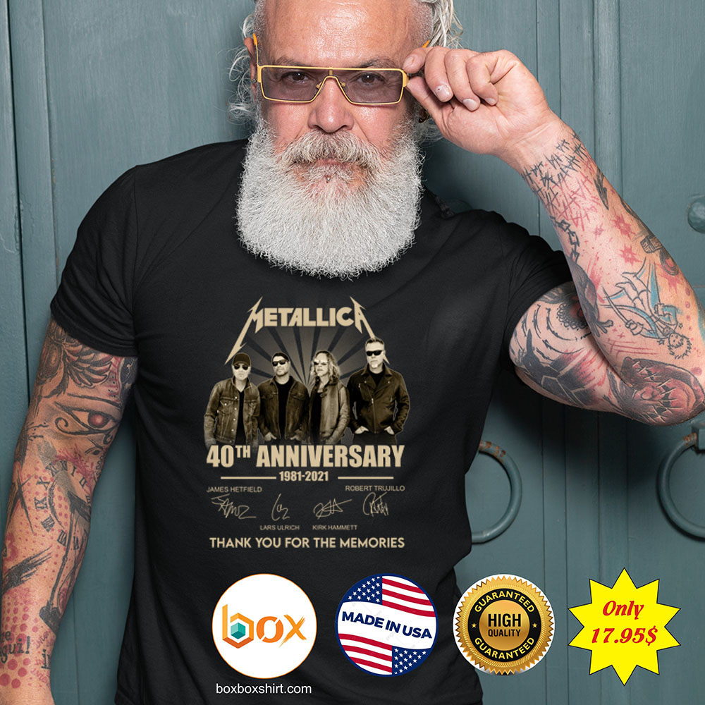 Metallica 40th anniversary 1981 2921 tank you for the memories Shirt5