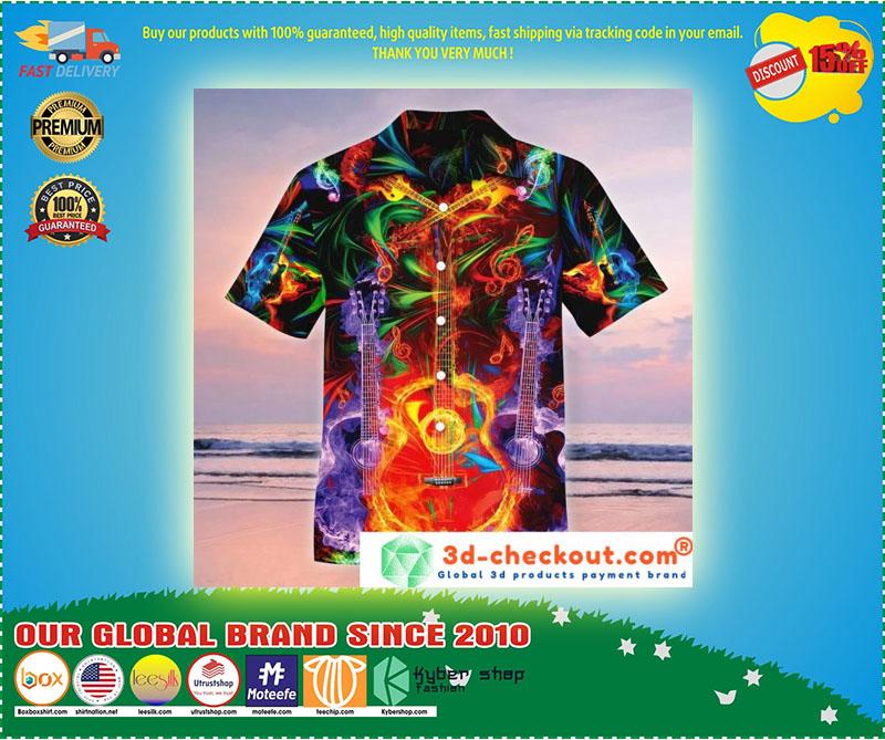 Neon Guitar Hawaiian shirt 3