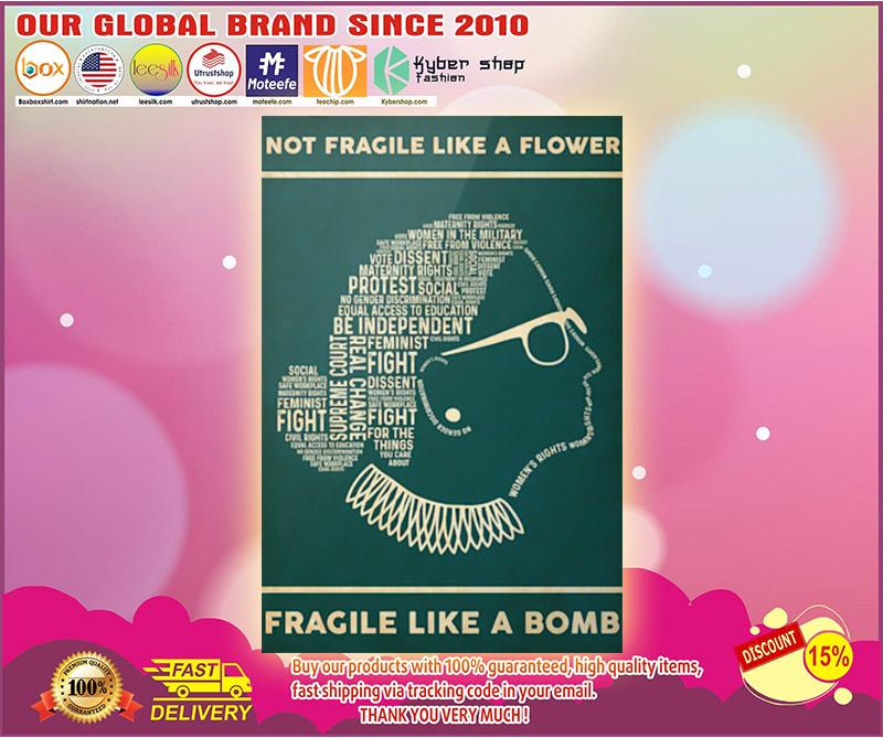 Not fragile like a flower fragile like a bomb poster 1