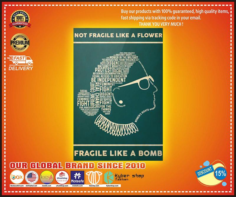 Not fragile like a flower fragile like a bomb poster 3