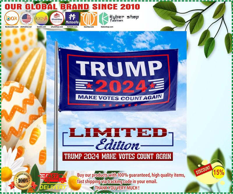 Trump 2020 make vote count again flag 1