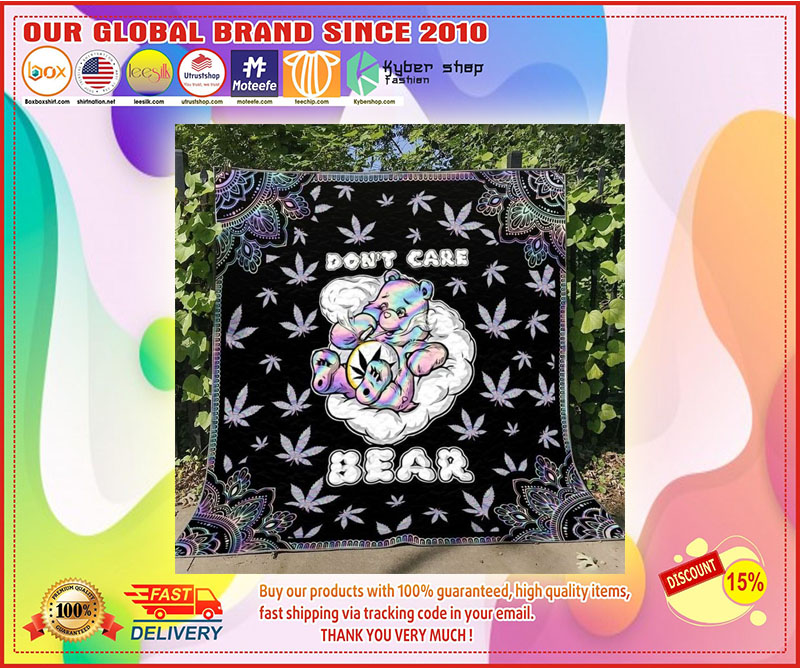 Weed dont care bear blanket 1