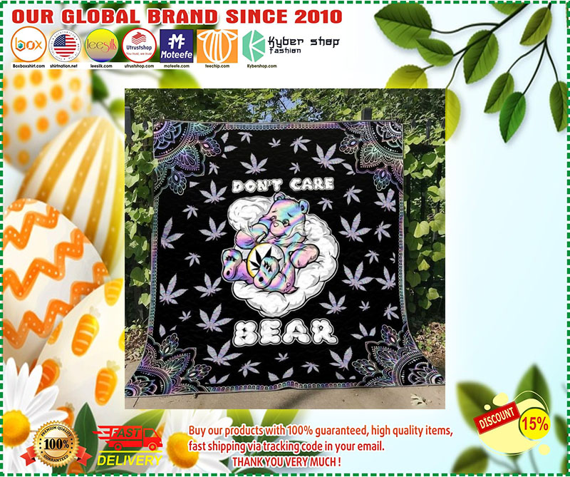 Weed dont care bear blanket 2
