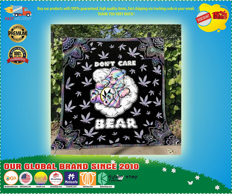 Weed dont care bear blanket 3