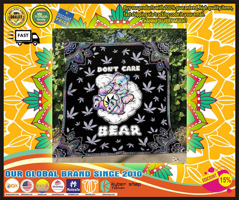 Weed dont care bear blanket 4