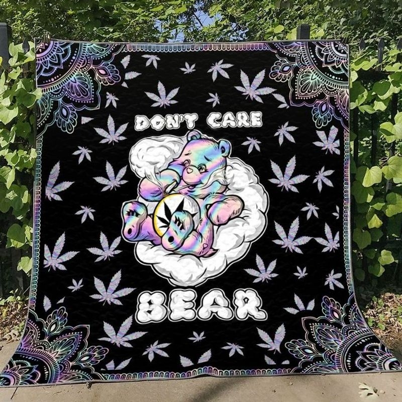 Weed dont care bear blanket