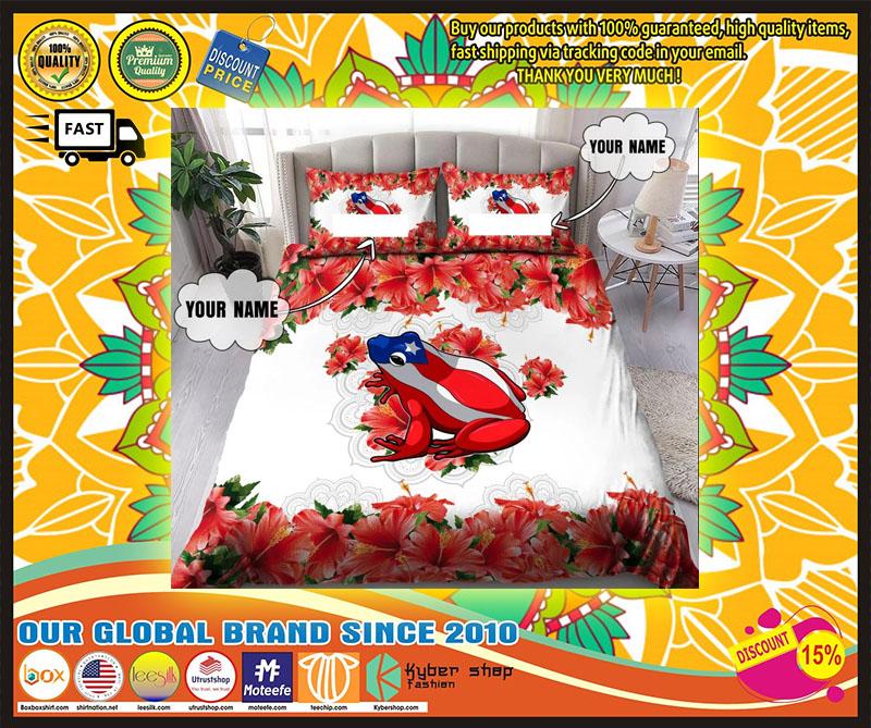 Coqui puerto rico custom name bedding set 1