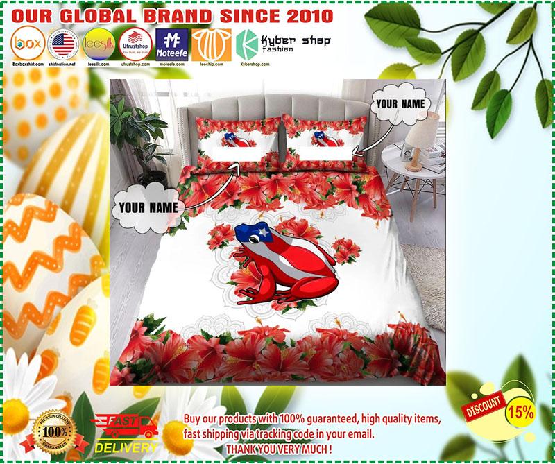 Coqui puerto rico custom name bedding set 3