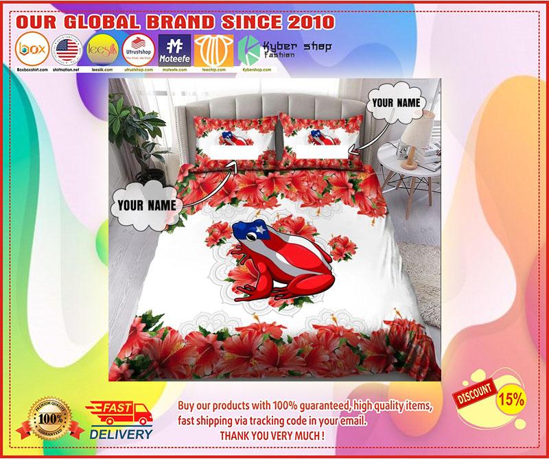 Coqui puerto rico custom name bedding set 4
