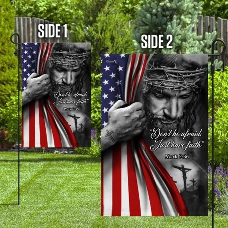 Jesus christian dont be afraid flag 1