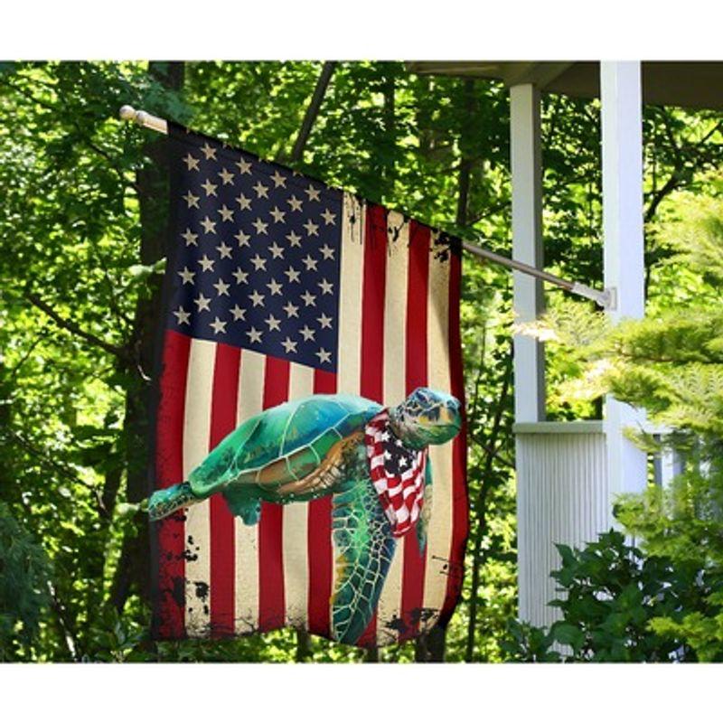 Turtle American US flag 4