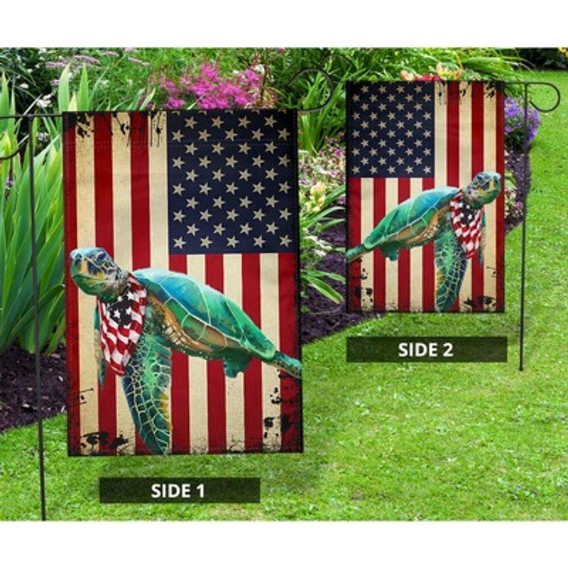 Turtle American US flag