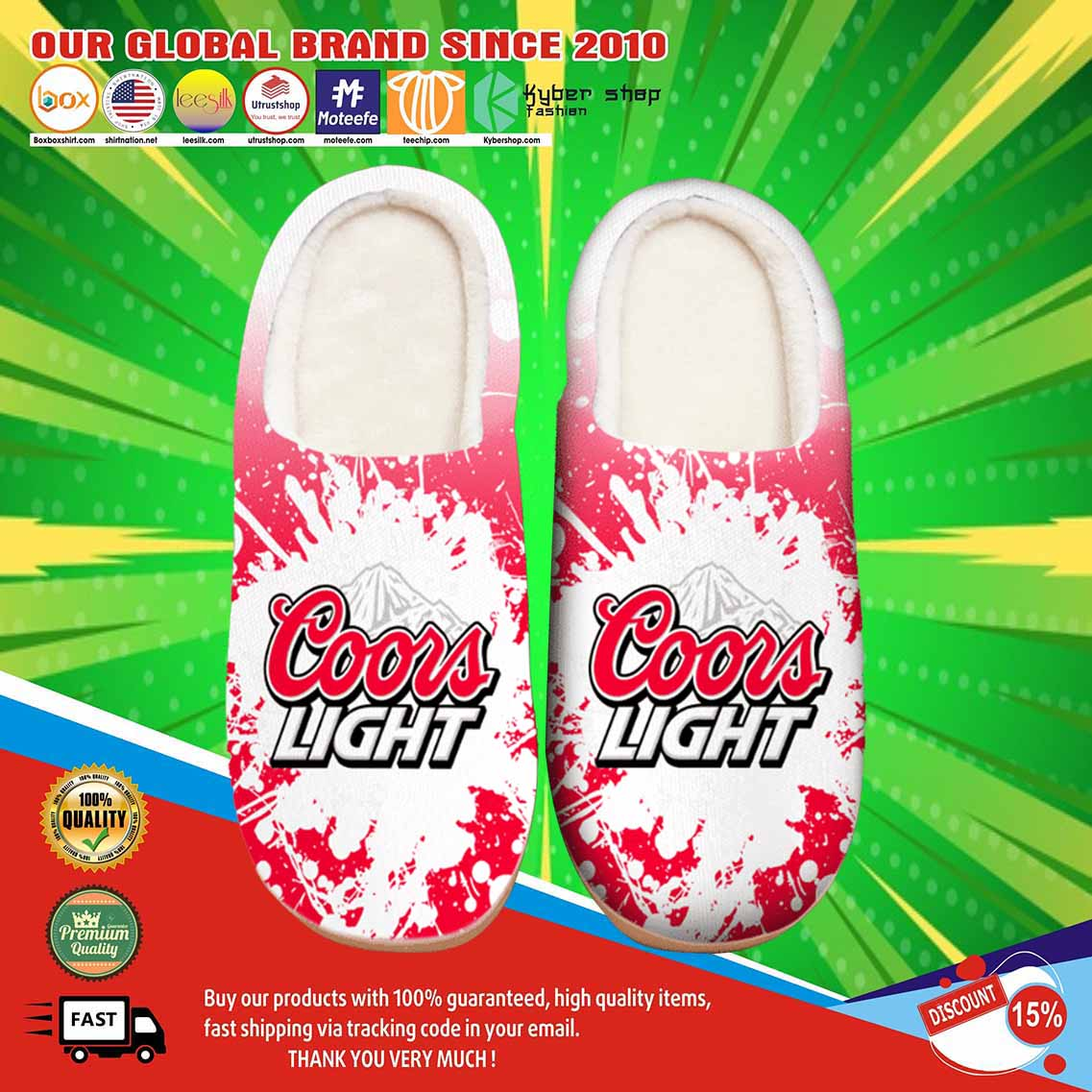 Amazon Coors Light Beer Shoes Slippers 3