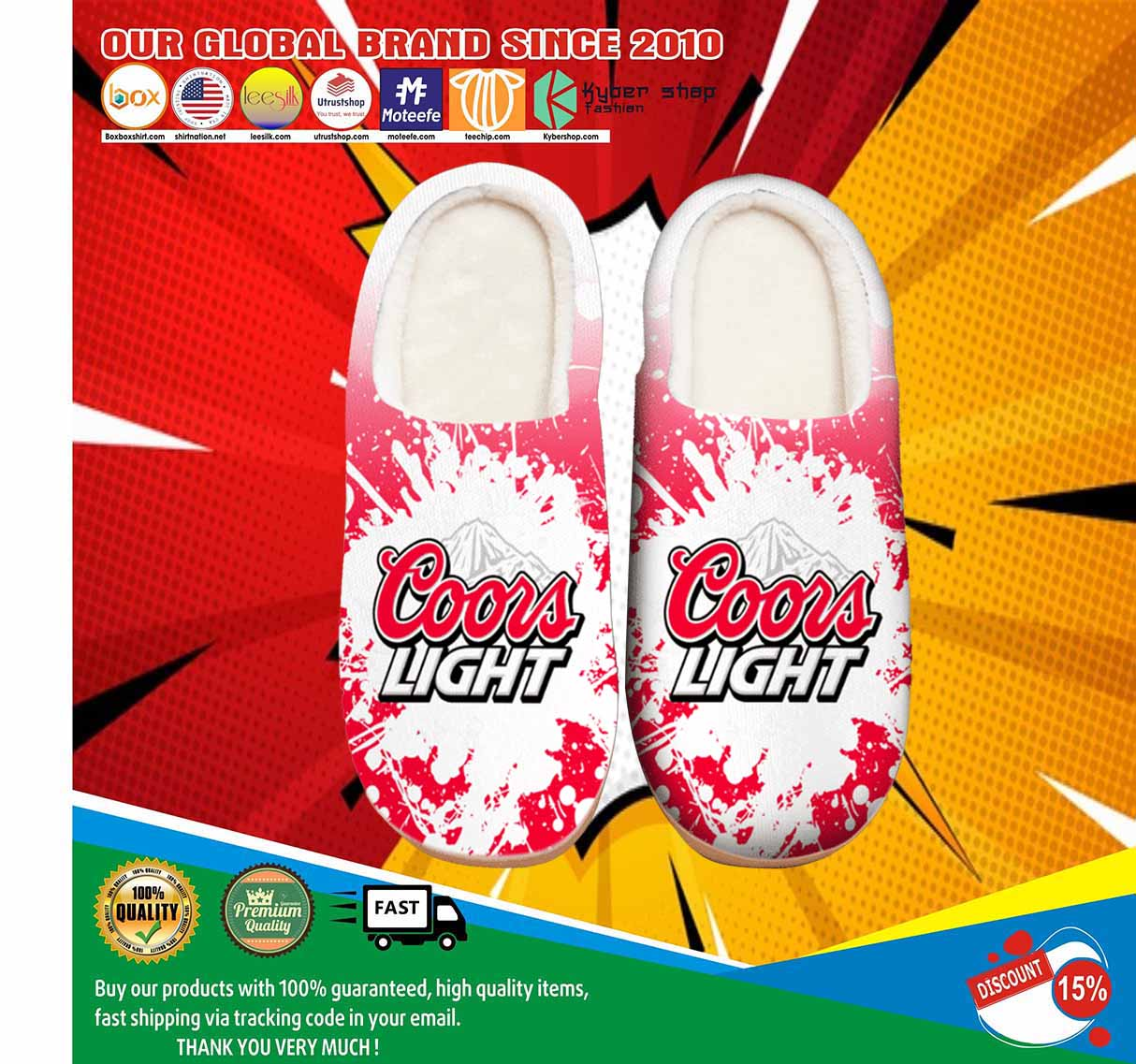 Amazon Coors Light Beer Shoes Slippers 4
