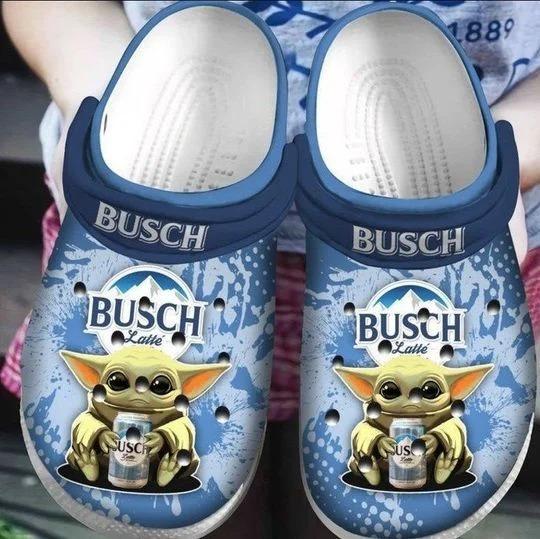 Baby Yoda Hug Busch Latte Crocband Crocs Clog Shoes