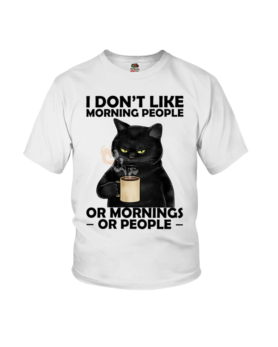 Cat I Dont Like Morning People Or Mornings Or People Shirt8