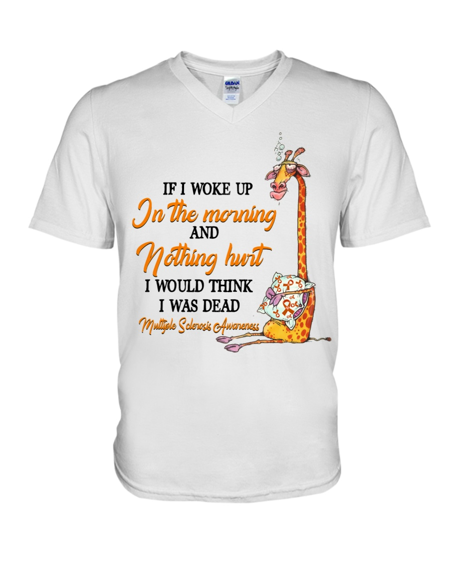 Giraffe If I Woke Up In The Morning And Nothing Hurt I Would Think I Was Dead Shirt8