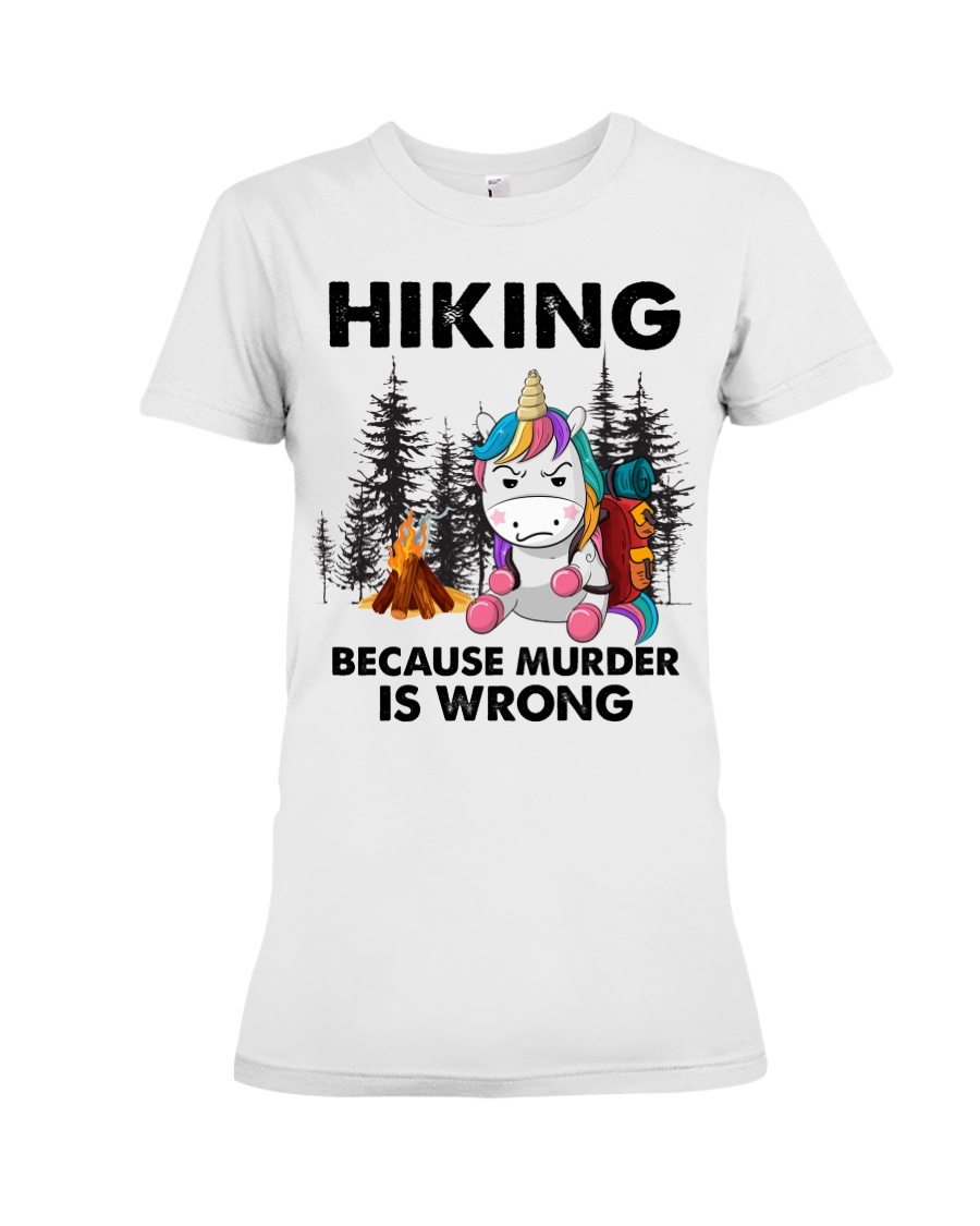 Horse Hiking Because Murder Is Wrong Shirt6