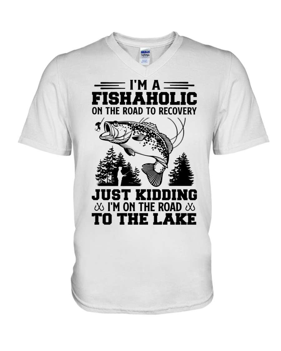 Im A Fishaholic On The Road To Recovery Just Kidding Im On The Road To The Lake Shirt8