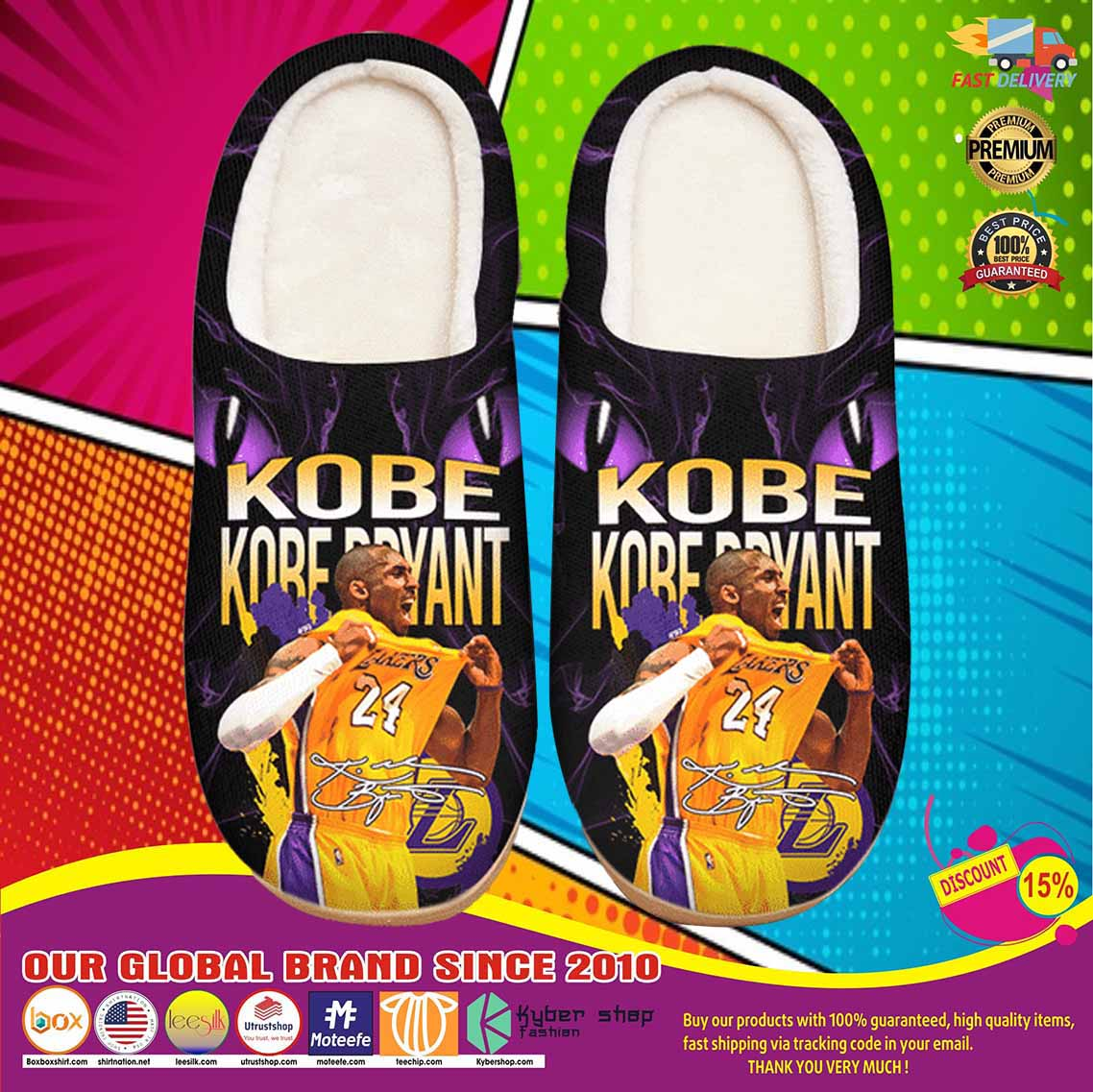 Kobe Bryant Custom Shoes Slippers 9