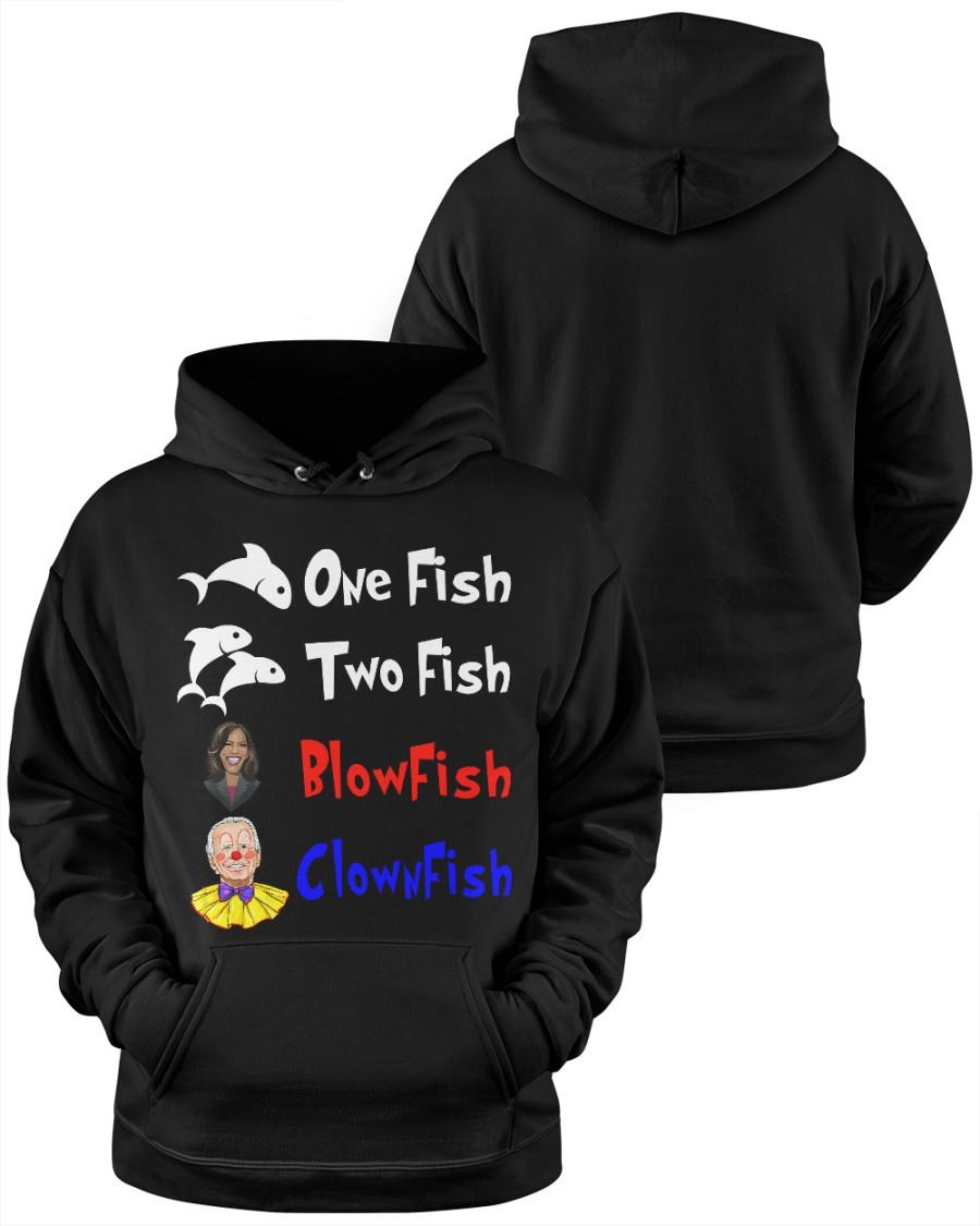 Nancy Pelosi Clown Biden One Fish Two Fish BlowFish ClownFish Shirt9 1