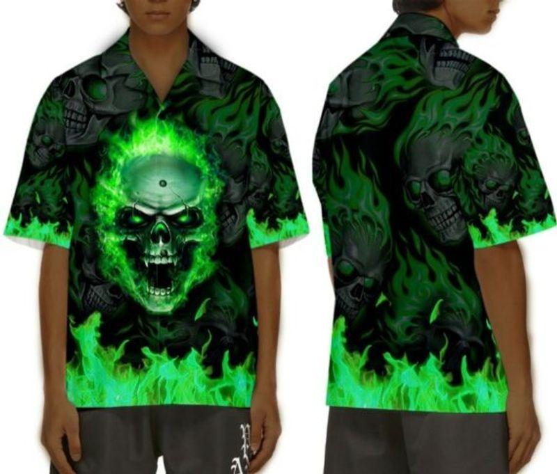 Sunny fire skull custom name baseball jersey shirt