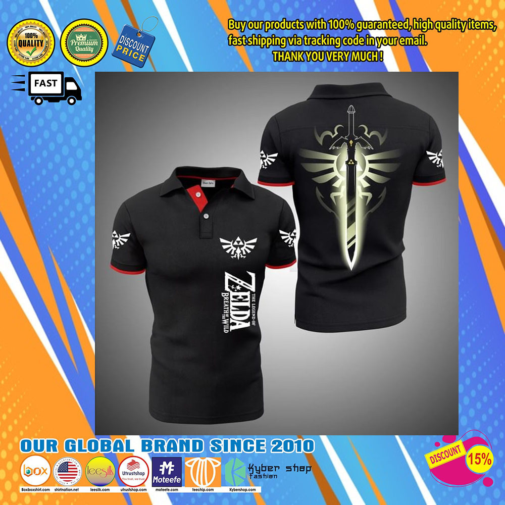 The Legend Of Zelda Breath Of The Wild 3d polo shirt24