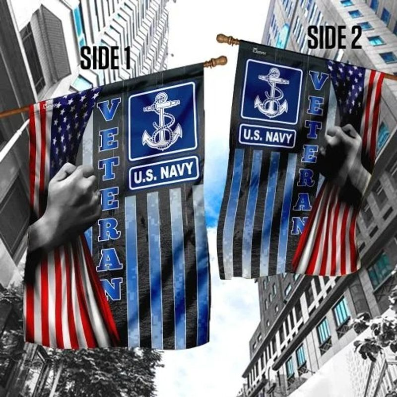 US Navy veteran American flag1