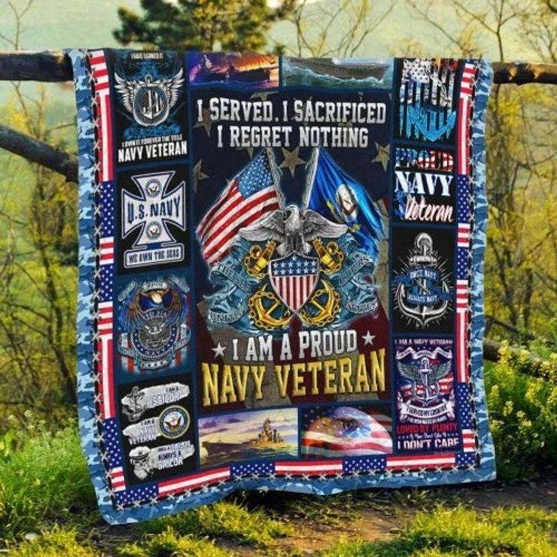 US Navy veteran I am a pround blanket