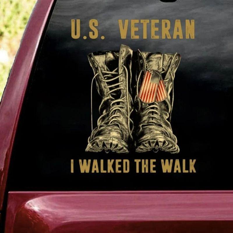 US veteran I walked the walk car decal