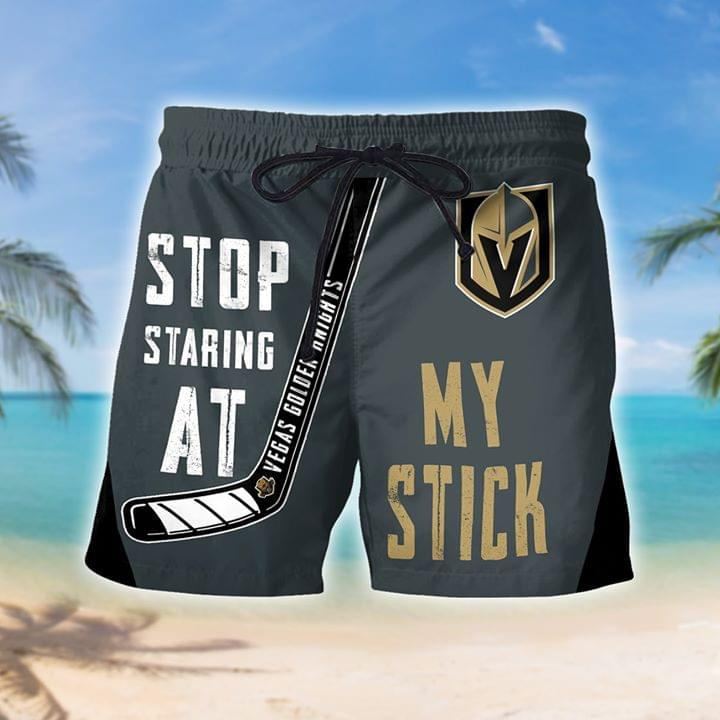 Vegas Golder stop staring at my stick beach short