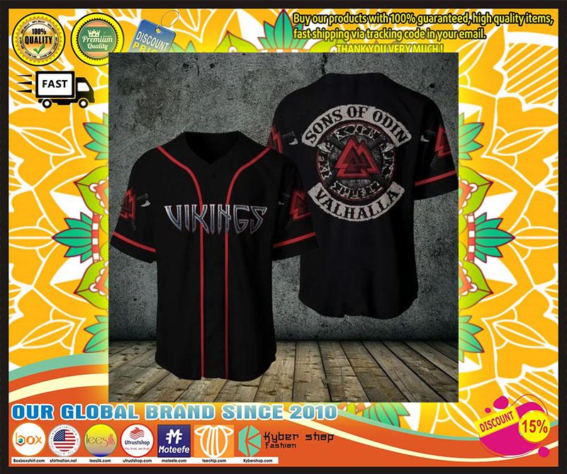 Viking sons of odin valhalla baseball shirt 1